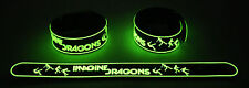 IMAGINE DRAGONS  Glow in the Dark Rubber Bracelet Wristband Radioactive GG274