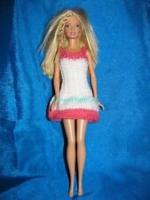 miss france colors handmade barbie doll dress robe de barbie colorée tricotée
