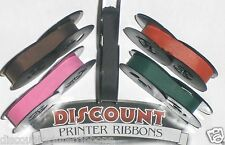 Olivetti Lettera 31 Typewriter Ribbons - Pink Purple Red Green Black Ink (5 pk)