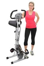Exerpeutic Folding Magnetic Upright Bike with Pulse( Large seat) Tension control