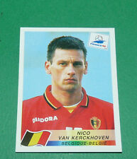 N°329 VAN KERCKHOVEN BELGIQUE PANINI FOOTBALL FRANCE 98 1998 COUPE MONDE WM