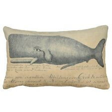 Vintage Beach Whale Lumbar Pillow Case Decorative Throw Pillowcase Cushion Cover