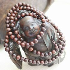100% Natural Hainan Huanghuali Preyer Buddha Beads Bracelet / Necklace 8mm 108颗