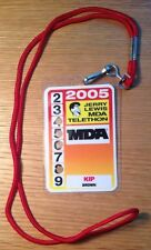 JERRY LEWIS 2005 MDA TELETHON VIP Guest Laminate Backstage Pass SHIPS WORLDWIDE