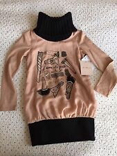 Miss Blumarine Peach Black Gorgeous Sweater, Size 6