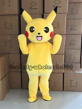 Halloween Pokemon Go Pikachu Mascot Costume Party Cosplay game Fancy dress Adult