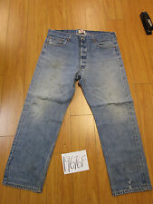 Used Levi 501 feathered grunge jean tag 40x32 meas 36x29 19676F