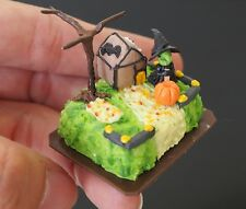 Dollhouse Miniatures Halloween Sheet Cake Food Supply Bakery Handmade Clay 1:12