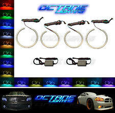 2005-10 Dodge Charger Multi-Color Changing Shift LED RGB Headlight Halo Ring Set