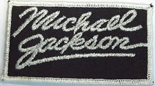 MICHAEL JACKSON Original Vintage 1980`s Embroidered Patch Silver Glittery