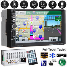 "7"" HD 2DIN Car MP3 MP5 Player GPS Sat Navi Bluetooth USB/TF/FM Touchscreen Radio"
