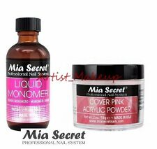 Mia Secret Acrylic Nail Powder Cover Pink + Liquid Monomer 2 oz Set - USA