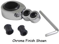 """1-1/4""""-1-1/2"""" I.D.Chrome Swivel head Two piece mount 1/4""""-3/8""""Dual Cable Clamp"""