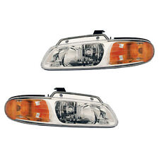 Fits 2000 Chrysler Town & Country Caravan Voyager Headlight Lamp Assembly 1 Pair