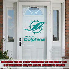 Miami Dolphins Decal Decorating Kit Vinyl Sticker Set Car Cornhole Glass Door RV