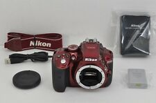 Nikon D5300 24.2 MP Digital SLR Camera Red Body Only #161117a