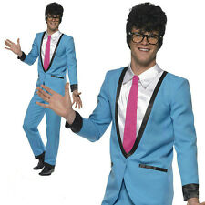 Smiffy's Teddy Boy Adult 50's Blue Suit Costume Size Large
