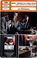 Fiche Cinéma neuve. Movie Card new. Henry : Portrait of a serial killer USA 1986