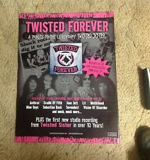 OOP! CD LP Poster 24x18apx TWISTED SISTER tribute cradle of filth music band.