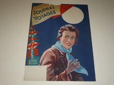 [DESSIN PRESSE BD] MARCEL THIERRY Jdes Voyages Cover GOUACHE ORIGINAL Femme 1947