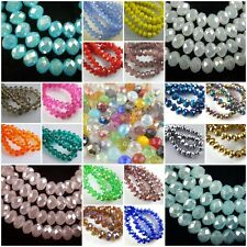 HOT!Wholesale Glass Crystal Faceted Rondelle Spacer Loose Beads 8mm Xmas Gift