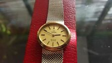 Omega quartz ladies watch. 10k rolled gold + Original Case