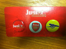 3 Genuine Arsenal Junior Gunners Pin Badges - BRAND NEW - great present