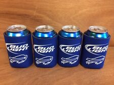 Bud Light Buffalo Bills Beer Koozies ~ BRAND NEW & Free Shipping ~ Four (4) Pack