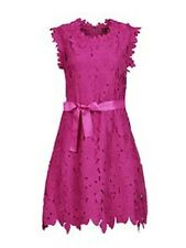 Jolie Moi Crochet Lace Fit & Flare Dress Fuschia Size UK 10 RRP £89.99 Box4620 G