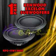 "(2) KENWOOD EXCELON KFC-XW1200F 12"" 1400W SHALLOW MOUNT SLIM SUBWOOFERS SPEAKERS"