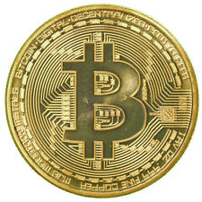 1 x Gold Plated Bitcoin Coin Collectible Gift BTC Coin Art Collection