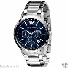 LUXURY EMPORIO ARMANI AR2448 BLUE DIAL CHRONOGRAPH MENS WATCH