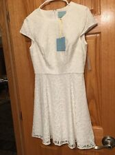 NEW $148 CE CE BY CYNTHIA STEFFE SZ 6 LILY WHITE EYELET DRESS BEAUTIFUL LINED