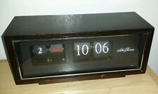 Vintage Seth Thomas 0821 Speed Read Day-Date Clock FLIP CARD CLOCK WOOD CASE
