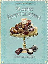 15x20cm MASTER Chocolatier CIOCCOLATO vintage smalto Stile Metallo Advertising sign