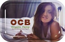 Medium OCB Organic Hemp Metal Cigarette Rolling Tray