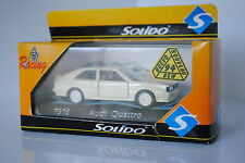 SOLIDO RACING FRANCE REF 1916 AUDI QUATTRO NEUF EN B MINIATURE 1/43