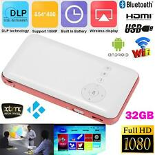 Mini Pocket LED Full HD 1080P Bluetooth WiFi DLP Projector Android 32G V0W7