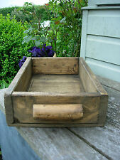 Wooden box with Handles made from Reclaimed Vintage Wood /  Tidy  Storage (906)