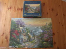 GIBSONS PUZZLE The Village Lighthouse  Thomas Kinkade 1000 Piece Jigsaw - VGC