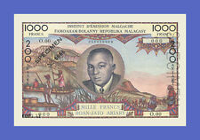 COMORES on MADAGASCAR - 1000 FRANCS = 200 ARIARY 1963s - Reproductions