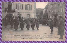 Carte Postale - Dannemarie - Première décoration remise sur la terre d'alsace