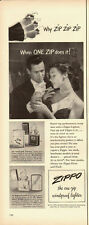 1951 Vintage ad for ZIPPO Lighters`50's Fashion`Elegant dressed Couple