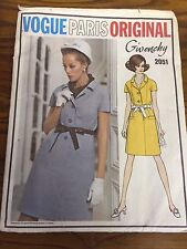 Vogue 2051 PARIS ORIGINAL Uncut Sewing Pattern GIVENCHY Size 12 Bust 34 Hip 36