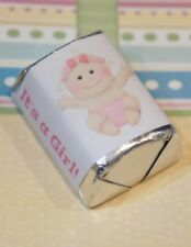 30 Baby Shower It's A Girl Pink Baby Hershey Candy Nugget Wrappers Stickers