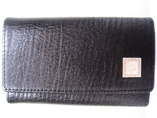 VERSACE BLACK GRAIN LEATHER KEY CASE / WALLET MADE IN ITALY NEW