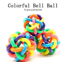 Pet Dog Puppy Cat Squeaky Knot Cotton Rope knotted Rubber Bell Ball Chewing Toy