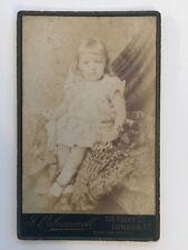 Victorian Carte De Vista CDV Photo - London - Scannell  -  Child Seated