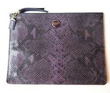 COACH SIGNATURE STRIPE EMBOSSED SNAKE MEDIUM TECH POUCH F66413 NWT $108.00