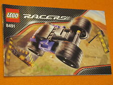 Lego Set 8491 INSTRUCTIONS ONLY Racers Power Ram Rod Manual Booklet Book Car